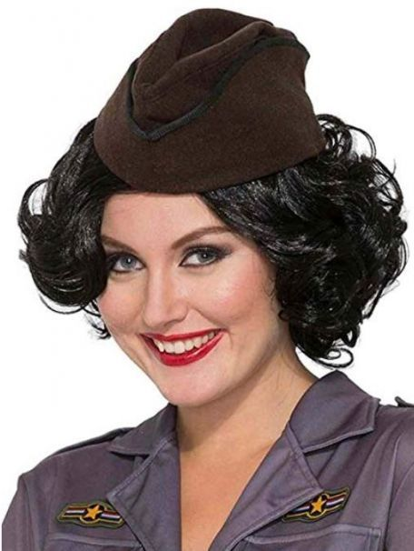 d464c50748690 Women's Vintage 1940's Retro Style Brown Military Hat ...