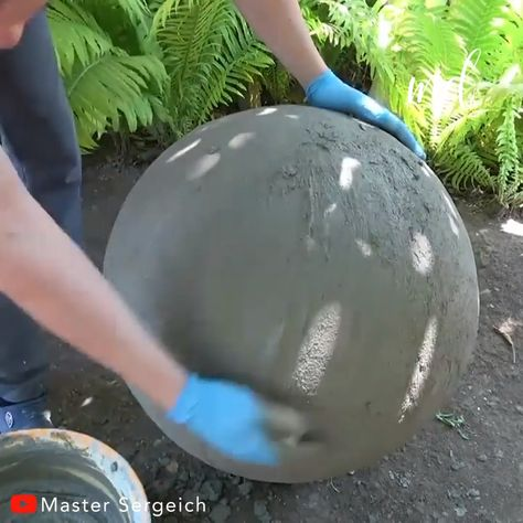Your garden should stand out at all times! BY: Master Sergeich diy concrete GARDEN CRAFT