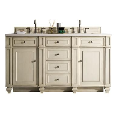 James Martin 157 V60d Vv Bristol 60 Vintage Vanilla Double Vanity Without Top Bathroom Ideas Quartz Vanity Tops Single Sink Bathroom Vanity Vanity
