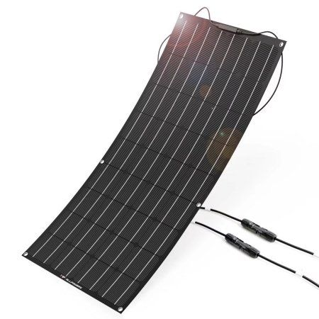 Solar Panel Allpowers 18v 12v 100w Flexible Solar Panel Charger With Etfe Layer Mc4 Connectors Semi Bendab Log Cabin Homes Cabin Homes Flexible Solar Panels