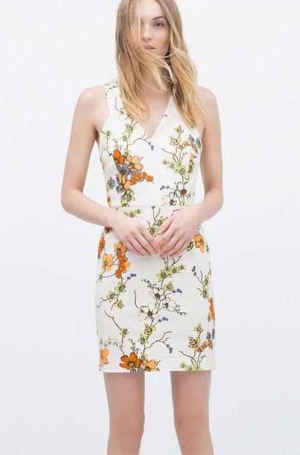 Zara Cicek Desenli Yazlik Sik Elbise Modeli Kadinlive Com Elbise Modelleri The Dress Elbise