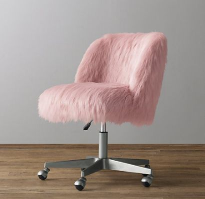 Pink Fluffy Desk Chair Yahoo Search Results Desk Chair Bedroom Desk Chair Pink Desk Chair