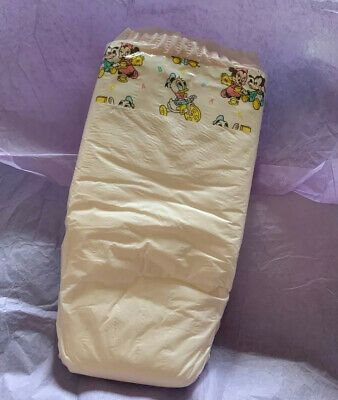 Vintage Ausonia Plastic Backed Diaper for Girls From Spain Size Super