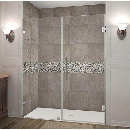 Dreamline Mirage X 56 W X 72 H Single Sliding Semi Frameless Shower Door With Clearmax Technology In 2020 Shower Doors Frameless Shower Frameless Shower Doors