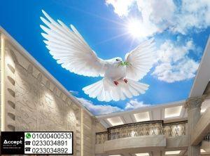 ورق جدران ثلاثي الابعاد اسقف Wallpaper Doves Animals