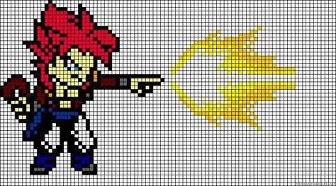 Dragon Ball Z Perler Bead Pattern Dessin Carreau Dessin Pixel Point De Croix