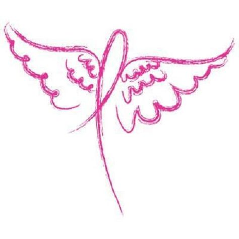 Tattoo artist tattoos dog breast cancer ribbon with wings pictures tattoo ideas