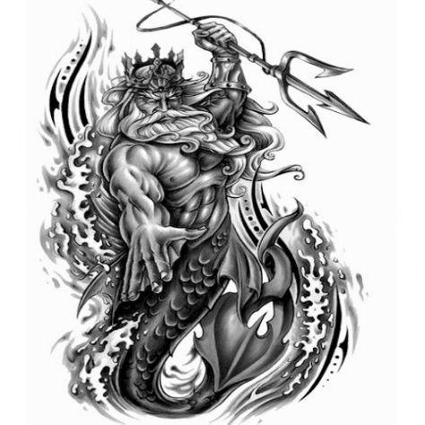 Wassermann Poseidon Tatowierung Keltische 5