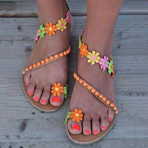 Toddler Girls Flip Flops Pink Peace Flowers Hearts Elastic Strap Sandal