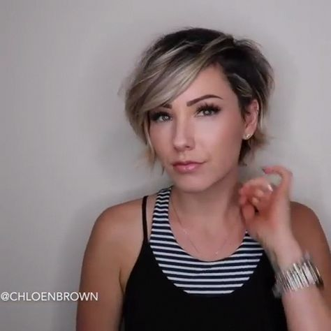 Up-to-date hair cutting in layers can be done in countless ways. #shorthairstylesforwomen
