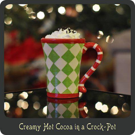 Homemade Creamy Hot Cocoa in a Crock-Pot
