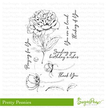 SugarPea Designs PRETTY PEONIES Clear Stamp Set spd-00262 ...