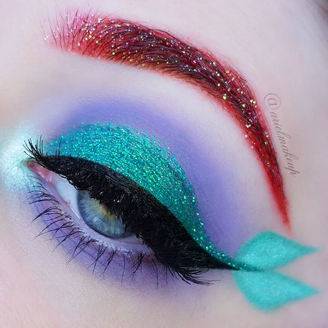 disney makeup looks eye shadows Ariel Make Up ~ Make Up amp; Beauty with a Princess Touch: The Mermaid Series ~ Ariel {Inspired by Laura theclassicalmua} Makeup Eye Looks, Eye Makeup Art, Halloween Makeup Looks, Crazy Makeup, Skin Makeup, Eyeshadow Makeup, Disney Halloween Makeup, Disney Eye Makeup, Ariel Makeup