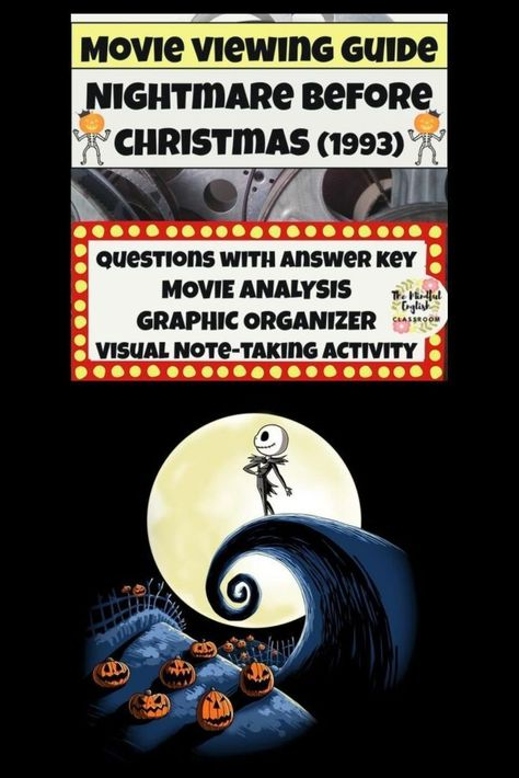 The Nightmare Before Christmas Movie Viewing Guide 1993 Pg 13 Animated Halloween Movie Jack The Pumpkin King Discovers Christmas And Halloween Land Will Ne In 2020