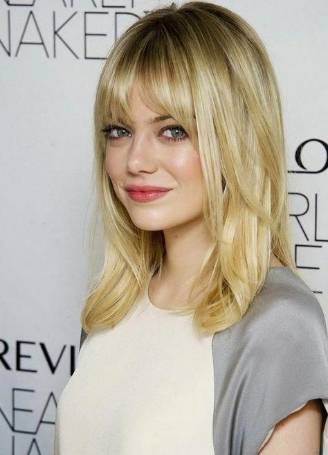 Simple Long Hair Styles Longhairstylesforfinehair Medium Hair Styles Hair Styles Bangs With Medium Hair
