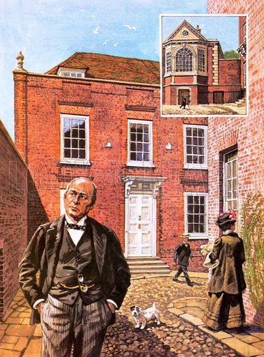 Henry James Standing Outside Lamb House In Rye East Sussex And
