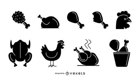 Black And White Flower clipart - Chicken, Cooking, Food, transparent clip  art