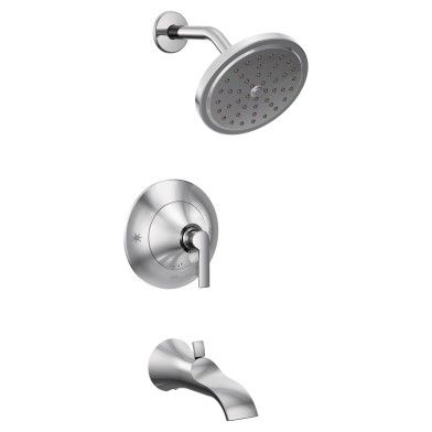 Moen Doux 1 75 Gpm Wall Mounted Tub And Shower Trim With Watersense In Chrome In 2020 Shower Faucet Shower Tub Tub Shower Faucets