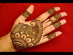 Easy Children Mehndi Design Front Hand