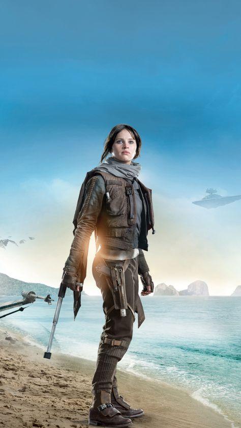 Rogue One: A Star Wars Story, Felicity Jones, Jyn Erso, 2016 movie, 720x1280 wallpaper