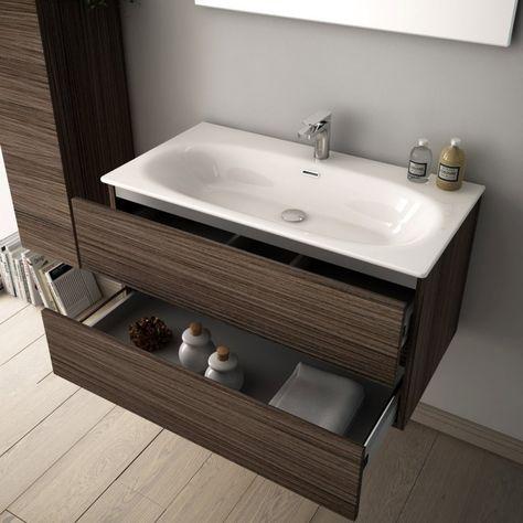 Waschtisch Flat 96cm Weiss Mit Unterschank Mit Zwei Auszugen Klassische Bader Bad Design Und Italienisches Badezimmer
