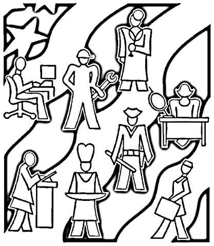 Career Coloring Pages