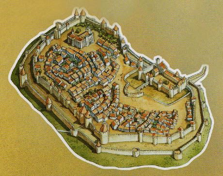 11 best Carcassonne images on Pinterest Watercolors City maps and