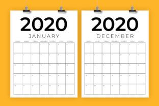 Vertical 11x17 Inch 2020 Calendar Graphic By Running With Foxes Creative Fabrica