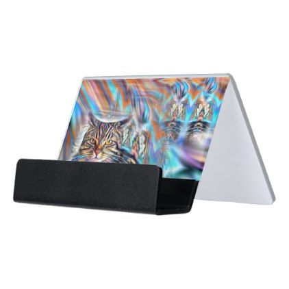 Adrift in colors tropical sunset cat desk business card holder adrift in colors tropical sunset cat desk business card holder business card holders colourmoves
