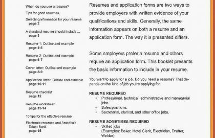 Resume For Service Industry Or 78 Resume Services Mn Resume