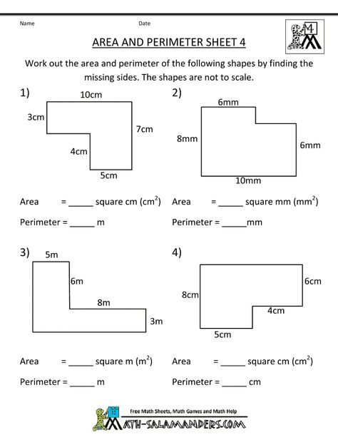 Math Worksheets 4th Grade Area Perimeter 4 Gif 790 1022 Perimeter Worksheets 4th Grade Math Worksheets Area Worksheets