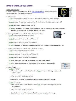 12+ States of matter and phase changes worksheet answers For Free