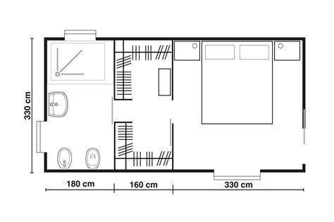 dimensioni cabina armadio camera da letto