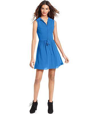 kensie a-line dress in cobalt