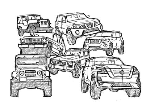 Nissan launches #drawdrawdraw social project  #Nissan #CarDesign #drawing #nissan #coloringpage #nissanpatrol #automotivedesign #autodesign