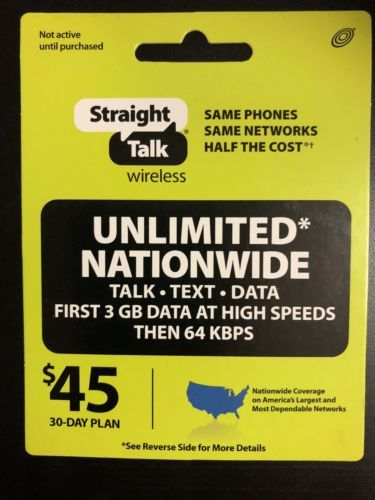 Phone and Data Cards 43308: Straight Talk Rob Refill 45 Dollar Card