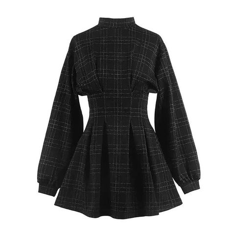 2019 Autum Women Vintage Mini Dress Long Sleeve Plaid A-lined Punk Style Gothic Dresses for Goth Girls Female Retro High Waist - Real Time - Diet, Exercise, Fitness, Finance You for Healthy articles ideas