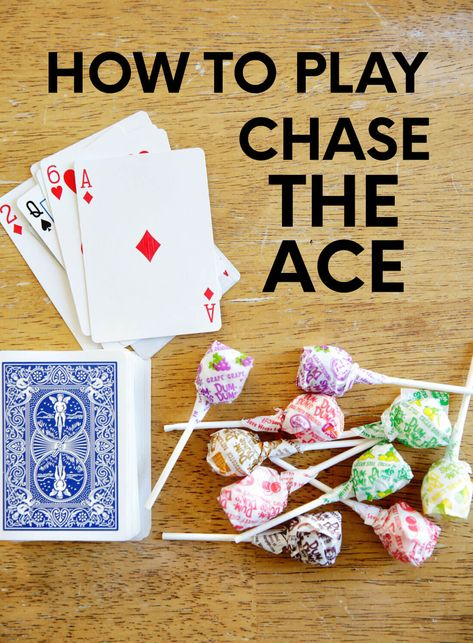 Looking for easy card games? Try out this super simple game for players called Chase the Ace. Printable instructions included below. Family Card Games, Fun Card Games, Card Games For Kids, Party Games, One Player Card Games, Birthday Games For Kids, Dice Games, Activity Games, Fun Activities