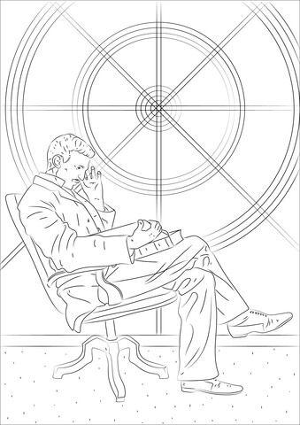 Tesla Coloring Pages : tesla, coloring, pages, Nikola, Tesla, Coloring, Pages,, Printable, Pages
