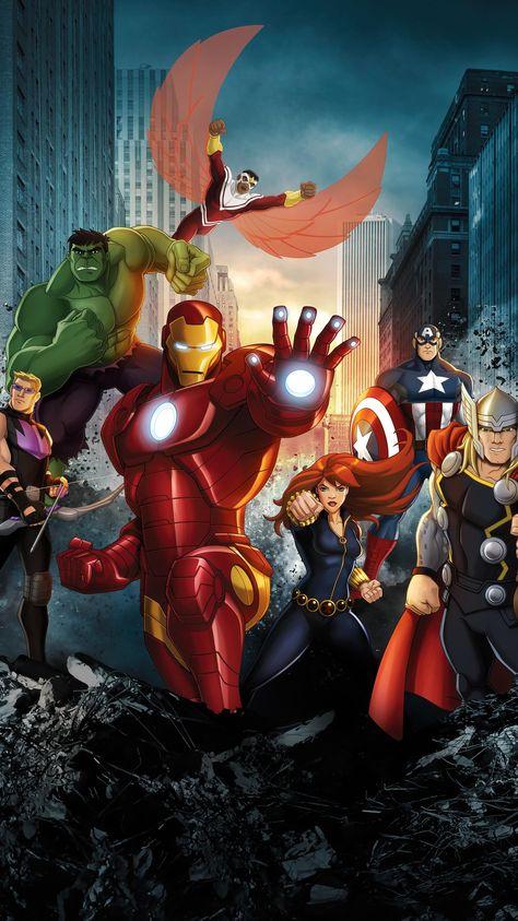 Marvel's Avengers Assemble Phone Wallpaper   Moviemania