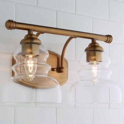 Modern Ridged Shade Bath Light - 1 Light - Shades of Light Track Lighting Fixtures, Modern Light Fixtures, Bathroom Light Fixtures, Bathroom Lighting, Vanity Light Bar, Vanity Lighting, Home Lighting, Modern Lighting, Club Lighting