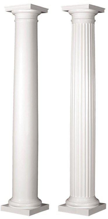 14 Round Tapered Architectural Composite Column Porch Or Interior Use Porch Columns Fiberglass Columns Wood Columns Porch