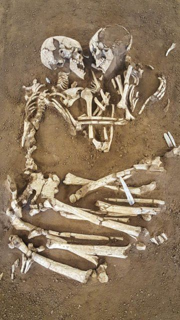 The Valdaro Lovers is the name given to two skeletons who have been locked in an eternal embrace for the past 6,000 years. The embracing skeletons were dis