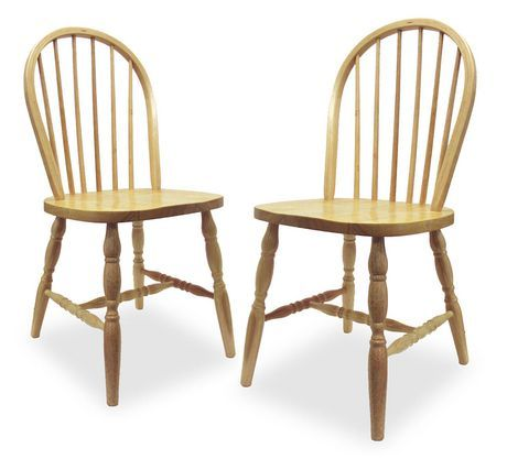 Winsome Windsor Natural Solid Wood Chair Natural Windsor Dining