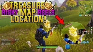 Fortnite Risky Reels Treasure Map Location Challenge L Season 4 Week 2 Challenges Treasure Maps Fortnite Map
