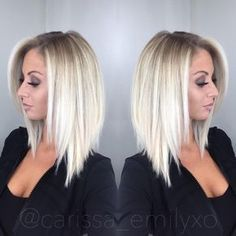 Short To Medium Hairstyles Amusing Long Inverted Bob With Bangs  Hair & Makeup  Pinterest  Long