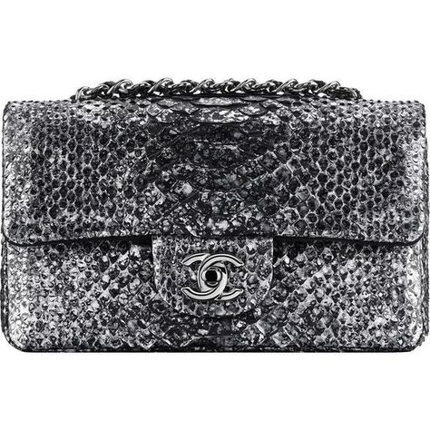 Python flap bag - CHANEL ❤ liked on Polyvore featuring bags, handbags, chanel, tasker, hand bags, python handbags, handbags purses, chanel purse and python print handbag