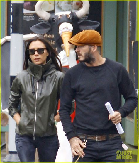 David & Victoria Beckham Will Always Be a Super Stylish Pair!: Photo Victoria and David Beckham walk side by side while running errands around town last week in London, England.