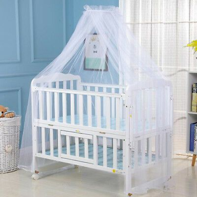 Baby Bed Mosquito Net Mesh Dome Curtain Net for Toddler Crib Cot QK