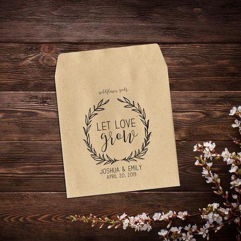 Wedding Seed Packets, Seed Packet Favors, 25 #weddingseedpackets #seedpacketfavors #seedweddingfavors #letlovegrow #customseedpackets #rusticweddingfavor #weddingfavorsseeds #personalizedfavors #wildflowerseeds #seedfavor #weddingseeds #seedpacketswedding #weddingfavors